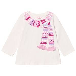 Hatley Girls Tops Pink Pink Scarf Print and Tassle Design Tee