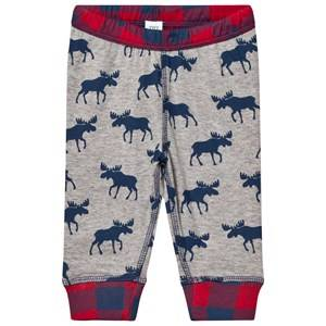 Hatley Boys Bottoms Grey Grey Moose Print Jersey Bottoms