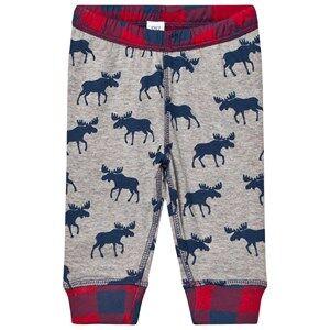 Hatley Boys Bottoms Grey Grey Moose Print Jersey Bottoms