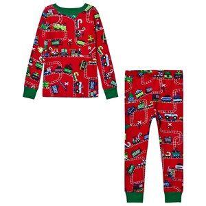Hatley Boys Nightwear Red Red Train Print Pyjamas