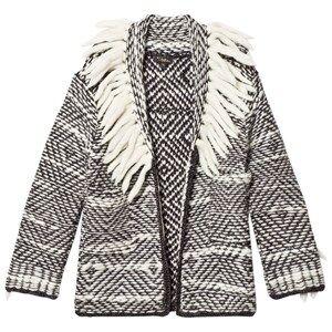 Velveteen Girls Coats and jackets Grey Cecilia Fringe Cardigan Grey