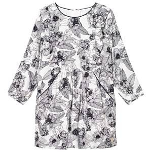 Image of Carrément Beau Girls Dresses Cream Off-White/Navy Floral Dress