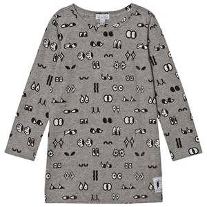 Civiliants Girls Commission Dresses Grey Allover Print Dress Grey