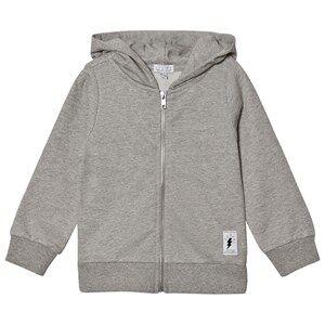 Civiliants Unisex Jumpers and knitwear Grey Flash Print Zip Hoodie Grey