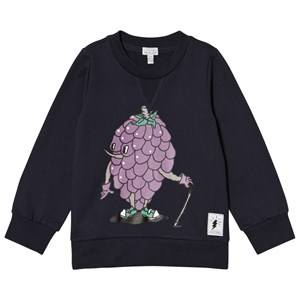 Civiliants Unisex Jumpers and knitwear Navy Grape Print Sweater Navy