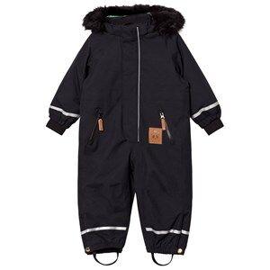 Mini Rodini Unisex Coveralls Black Kebnekaise Fox Family Snowsuit Black