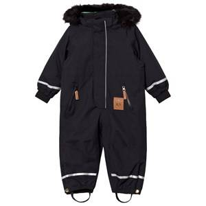 Mini Rodini Unisex Coveralls Black Kebnekaise Fox Family Snowsuit Black