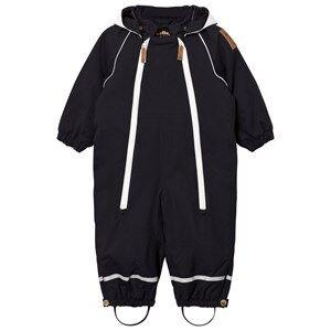 Mini Rodini Unisex Coveralls Black Alaska Panda Baby Snowsuit Black
