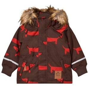 Mini Rodini Unisex Coats and jackets Brown K2 Dog Parka Brown