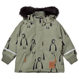 Mini Rodini Unisex Coats and jackets Green K2 Penguin Parka Green