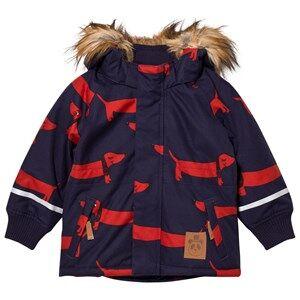 Mini Rodini Unisex Coats and jackets Blue K2 Dog Parka Navy