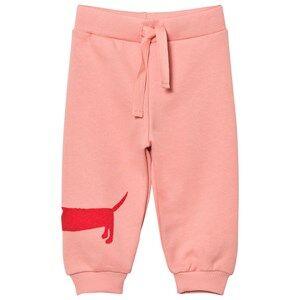 Mini Rodini Unisex Bottoms Pink Dog Sweatpants Pink