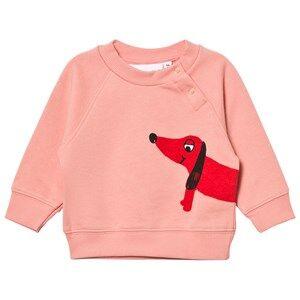 Mini Rodini Unisex Jumpers and knitwear Pink Dog Sweatshirt Pink