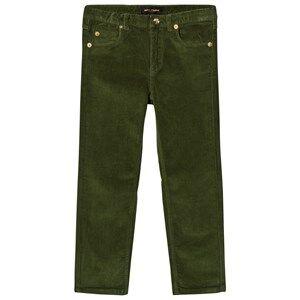 Mini Rodini Unisex Bottoms Green Corduroy Pants Tiger Fit Dark Green