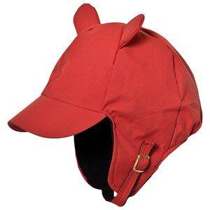 Mini Rodini Unisex Headwear Red Alaska Ear Cap Red