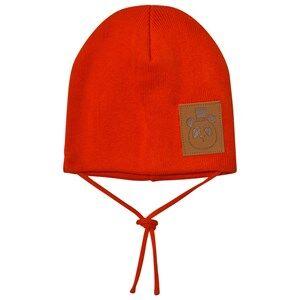 Mini Rodini Unisex Headwear Red Panda Hat Red