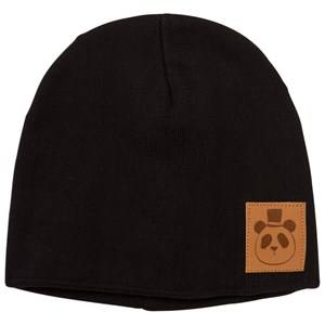 Mini Rodini Unisex Headwear Black Panda Hat Black