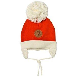 Mini Rodini Unisex Headwear Red Penguin Baby Hat Red
