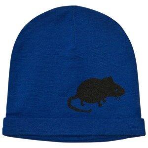 Mini Rodini Unisex Headwear Blue Mr Mouse Wool Beanie Blue