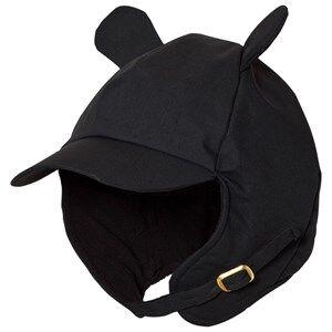 Mini Rodini Unisex Headwear Black Alaska Ear Cap Black