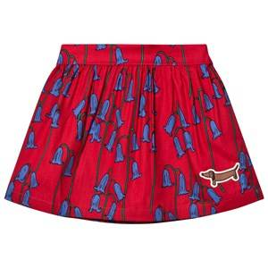 Image of Mini Rodini Girls Skirts Red Bluebell Woven Skirt Red