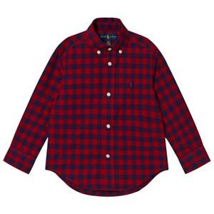 Ralph Lauren Boys Tops Red Red Gingham Long Sleeve Shirt
