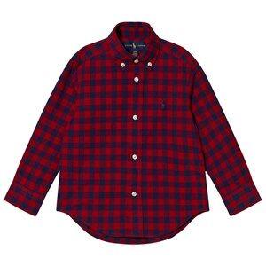 Ralph Lauren Boys Tops Red Red Gingham Long Sleeve Shirt