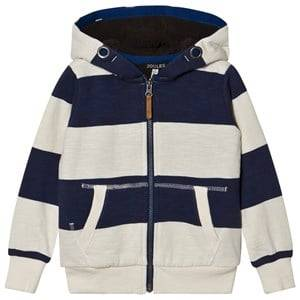 Tom Joule Boys Jumpers and knitwear Navy Navy and Ecru Stripe Teddy Lined Hoody