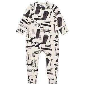 Koolabah Unisex All in ones Beige Stray Dogs Pyjamas Beige