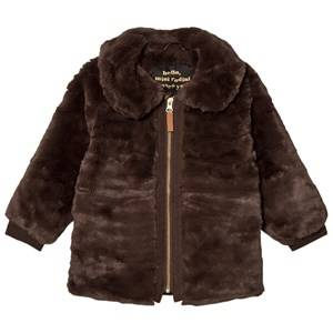 Mini Rodini Unisex Coats and jackets Brown Faux Fur Jacket Brown