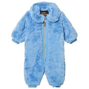 Mini Rodini Unisex Coveralls Blue Faux Fur Baby Coverall Light Blue