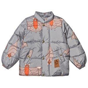 Mini Rodini Unisex Coats and jackets Grey Bat Puffer Jacket Grey