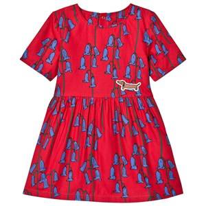 Image of Mini Rodini Girls Dresses Red Bluebell Woven Dress Red