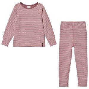 Mini A Ture Girls Baselayers Pink Merino Wool Bela K Pajamas Nostalgia Rose