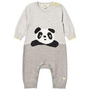 The Bonnie Mob Unisex All in ones Grey Panda Intarsia One-Piece Grey
