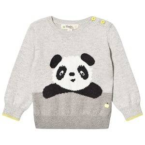 The Bonnie Mob Unisex Jumpers and knitwear Grey Panda Intarsia Sweater Grey