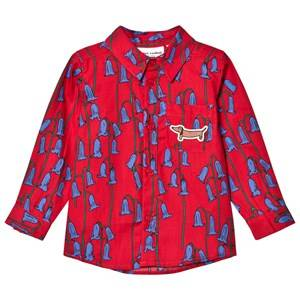 Mini Rodini Boys Tops Red Bluebell Woven Shirt Red