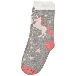 Melton Unisex Underwear Grey Unicorn Socks Light Grey