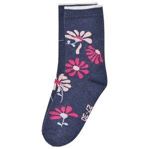 Melton Unisex Underwear Navy Floral Socks Tahiti