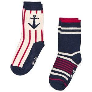 Melton Unisex Underwear Navy 2 Pack Socks Marine Navy