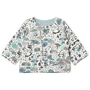 The Bonnie Mob Boys Coats and jackets Blue Reversible Padded Baby Jacket Panda Print Blue