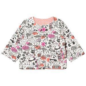 The Bonnie Mob Girls Coats and jackets Pink Reversible Padded Baby Jacket Print Panda