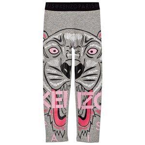 Kenzo Girls Bottoms Grey Grey Marl Tiger Print Leggings