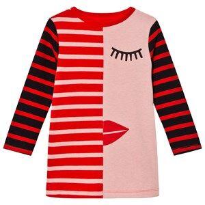 Stella McCartney Kids Girls Dresses Pink Pink/Red Face Stripe Kora Dress