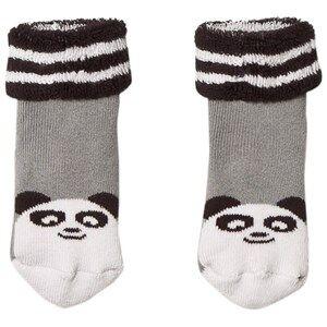 The Bonnie Mob Unisex Underwear Grey Baby Bootie Panda Socks Grey