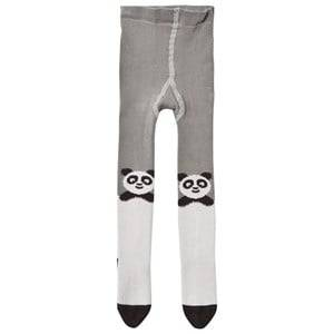 The Bonnie Mob Girls Underwear Grey Panda Tights Grey