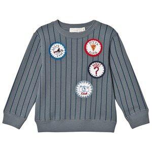 Stella McCartney Kids Boys Jumpers and knitwear Blue Blue Stripe Badge Biz Sweatshirt
