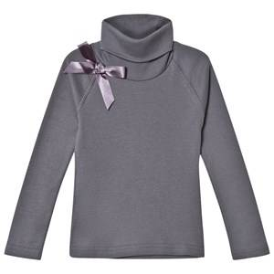 Kiss How To Kiss A Frog Girls Tops Grey Polo Tee Dark Grey