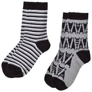 Reima Unisex Underwear Grey 2-Pack Socks Sturm Melange Grey