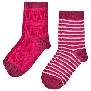 Reima Girls Underwear Pink 2-Pack Socks Sturm Pink
